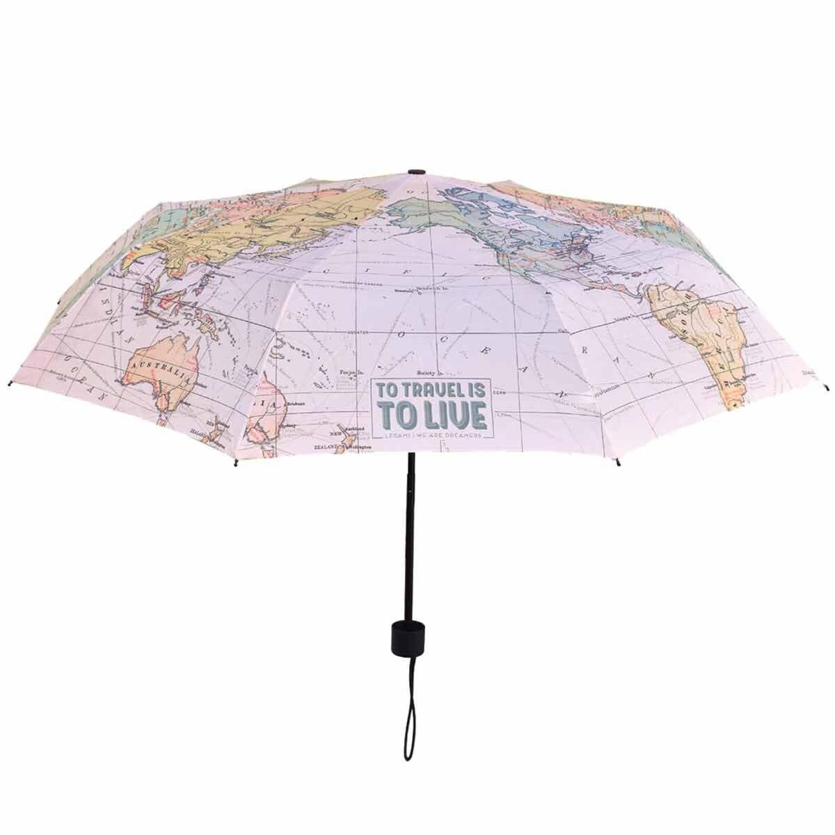 Legami Folding Umbrella Travel Map
