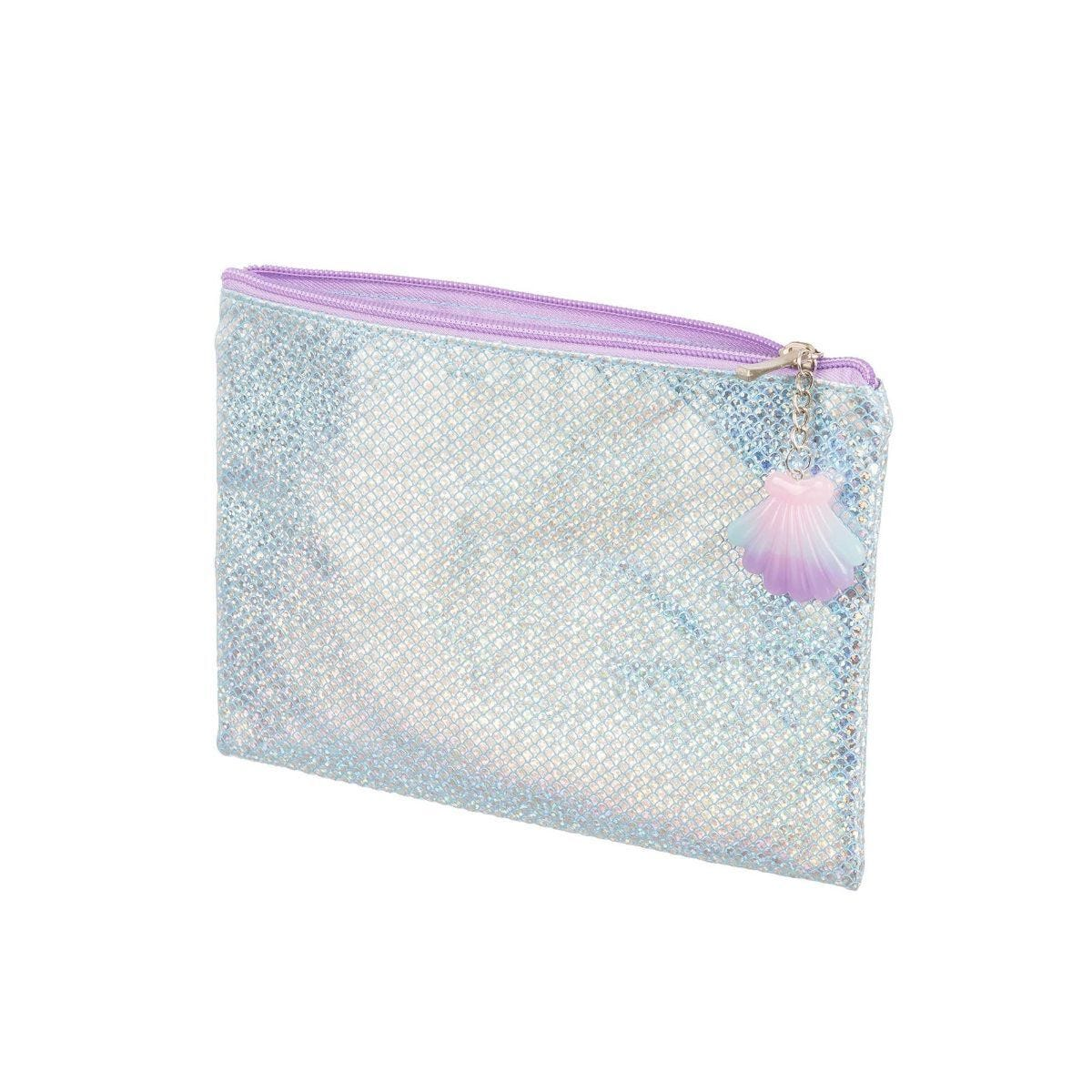 Mermaid Holographic Flat Pencil Case