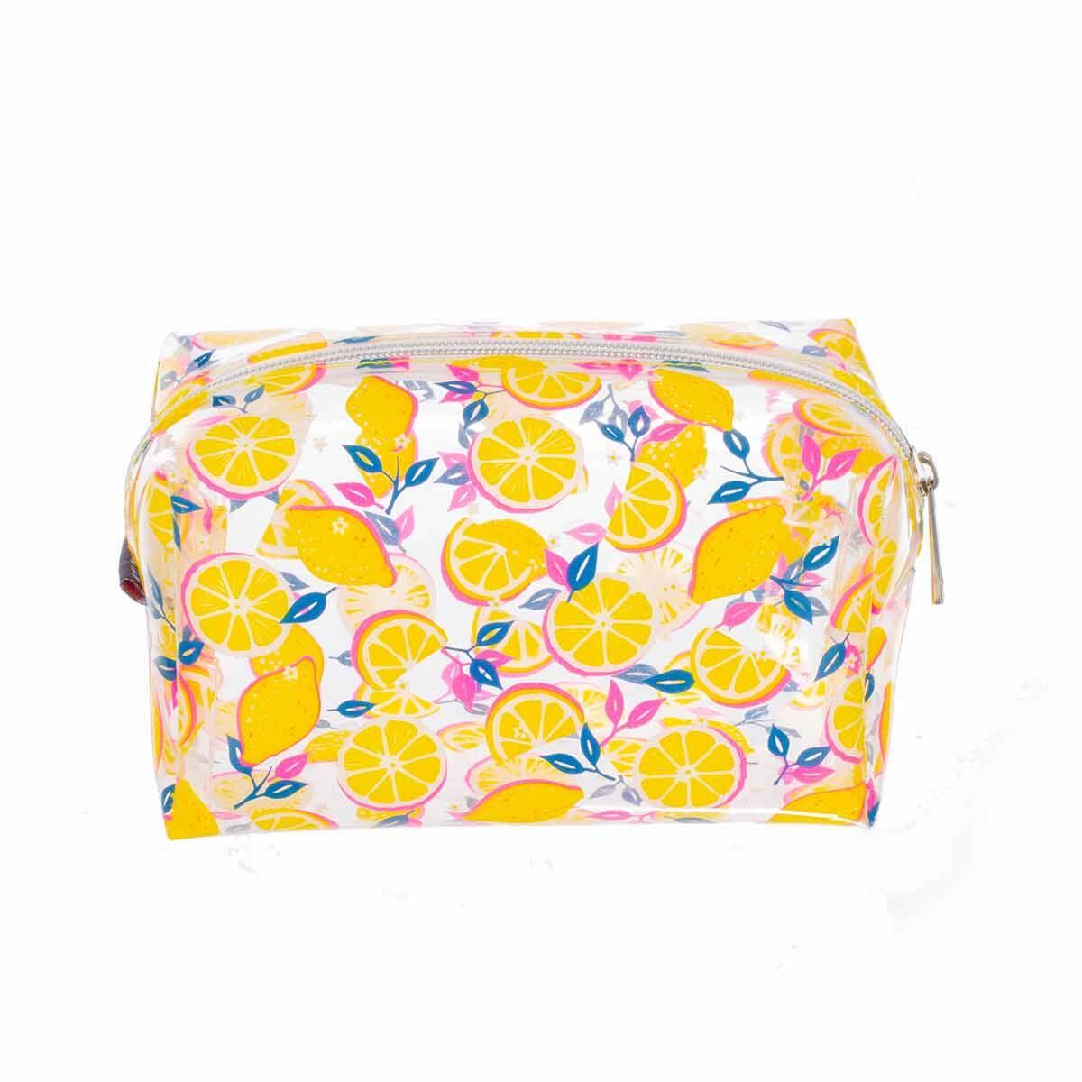 Lemon Slices Clear Wedge Pencil Case