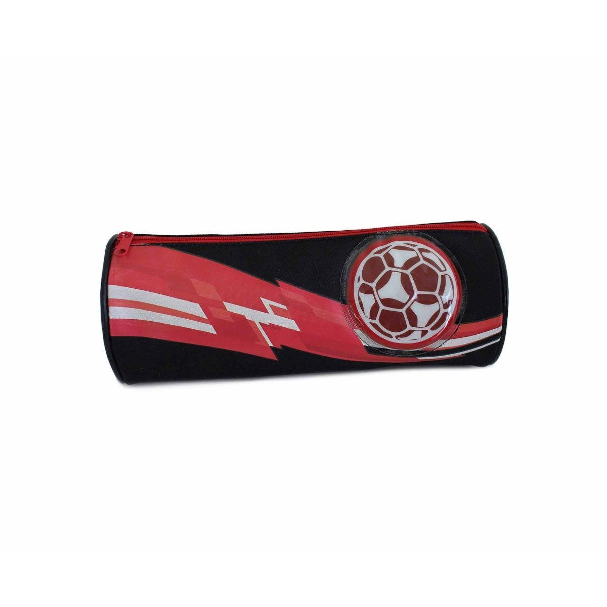 Football Patch Pencil Case Red