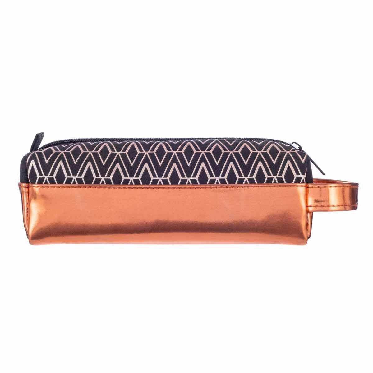 Black and Copper Geo Pencil Case