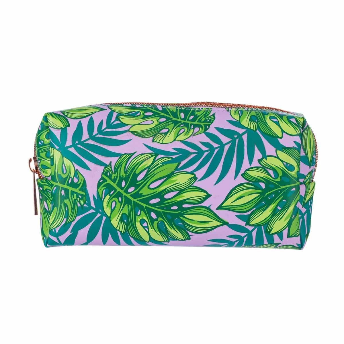Purple Palm Print Pencil Case