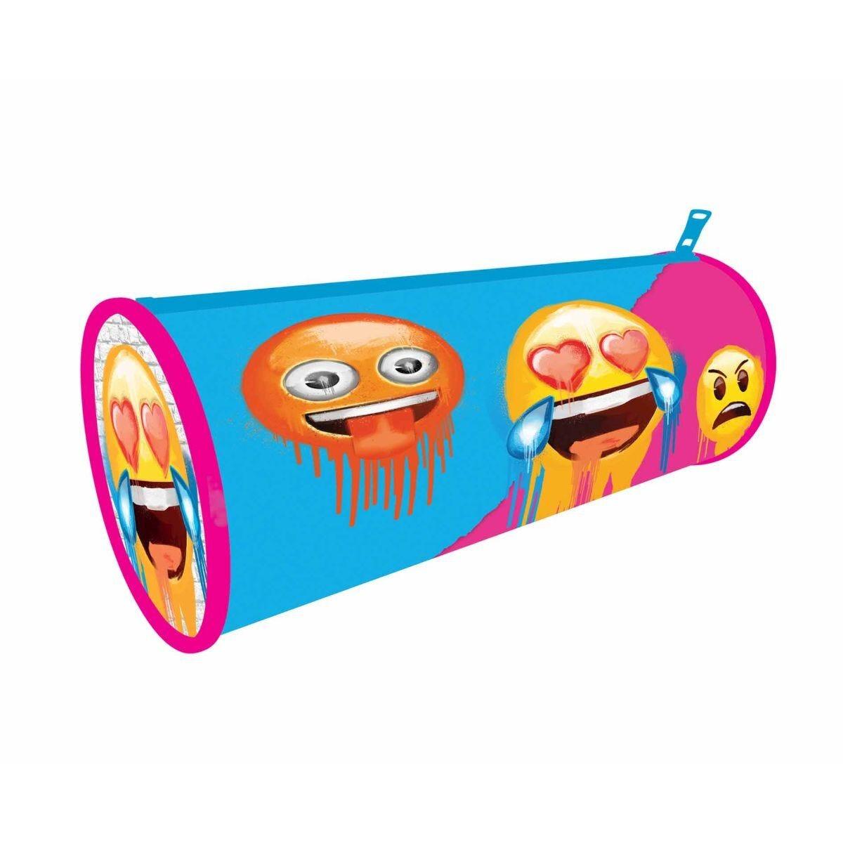 Emoji Colour Barrel Pencil Case