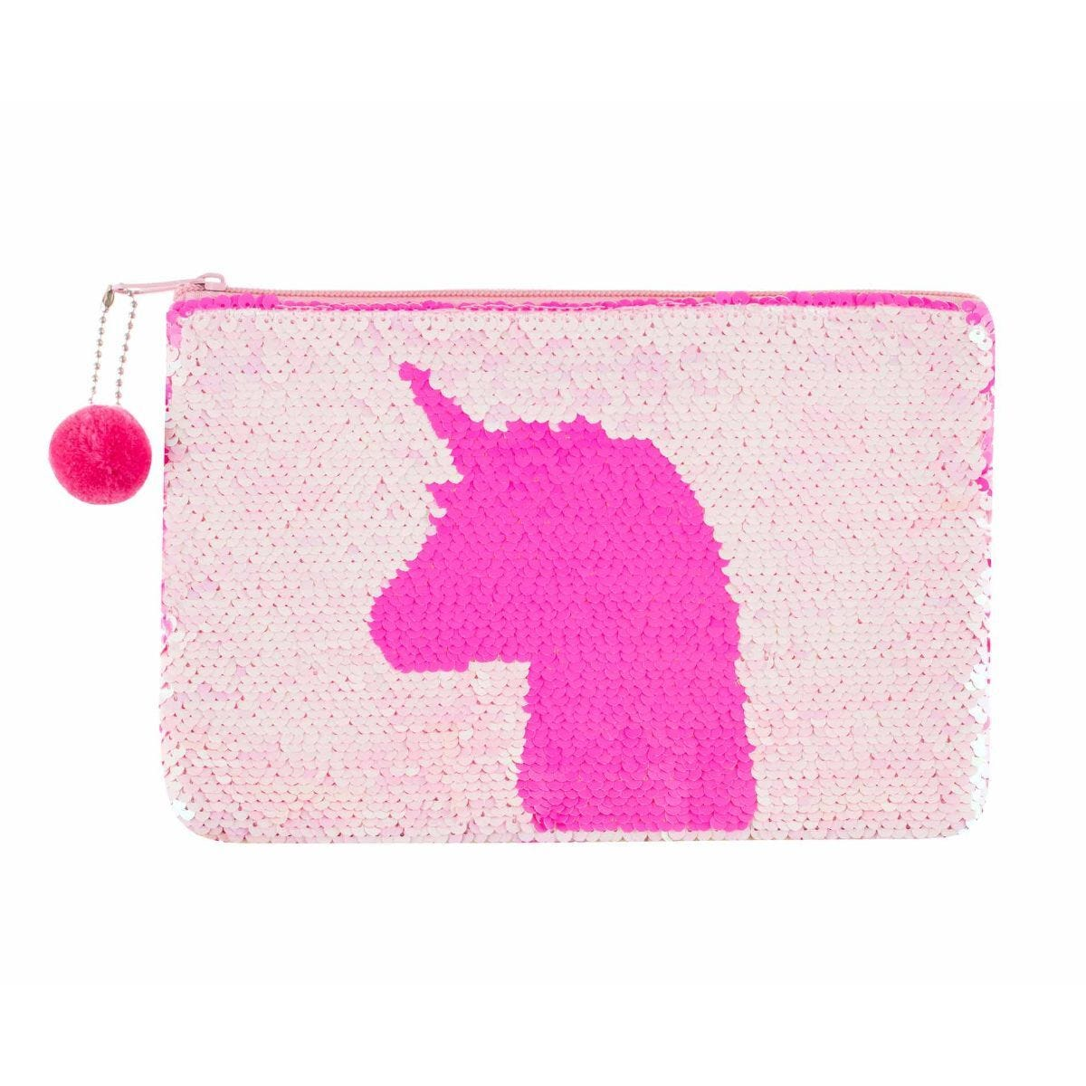Ryman Flippable Unicorn Pink Sequin Pencil Case