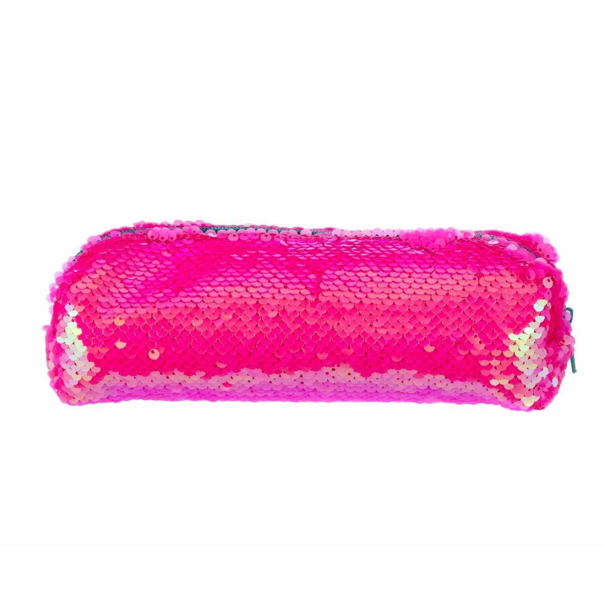 Pink Flippable Sequin Wedge Pencil Case