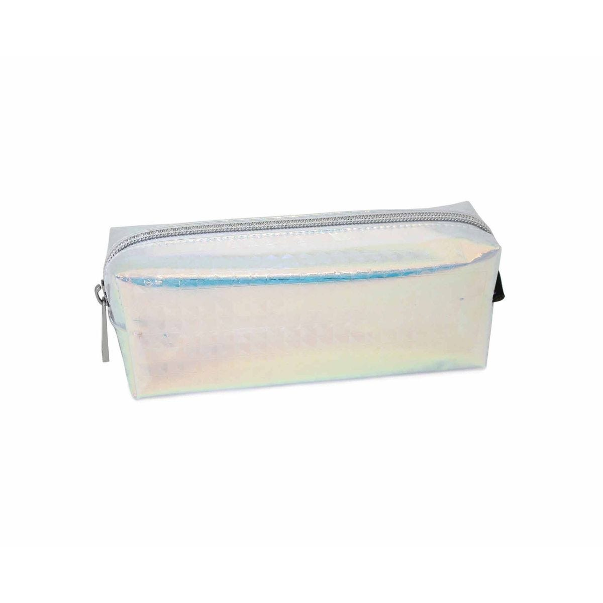 Iridescent Clear Wedge Pencil Case