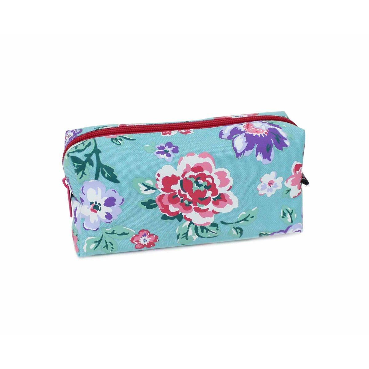 Floral Mint Wedge Pencil Case