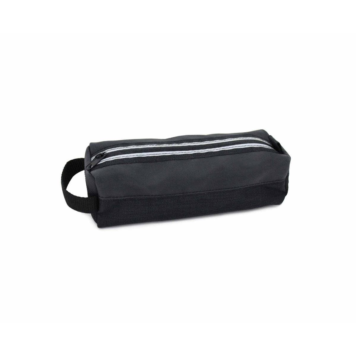 Sporty Black Striped Wedge Pencil Case