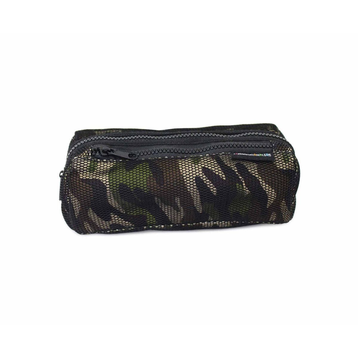 Mesh Camouflage Wedge Pencil Case Assorted