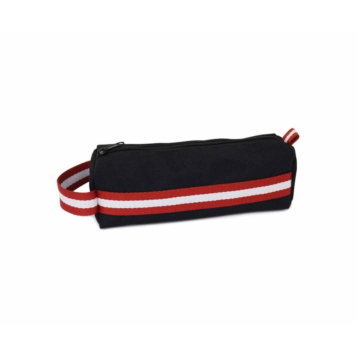 Red Trim Sporty Barrel Pencil Case