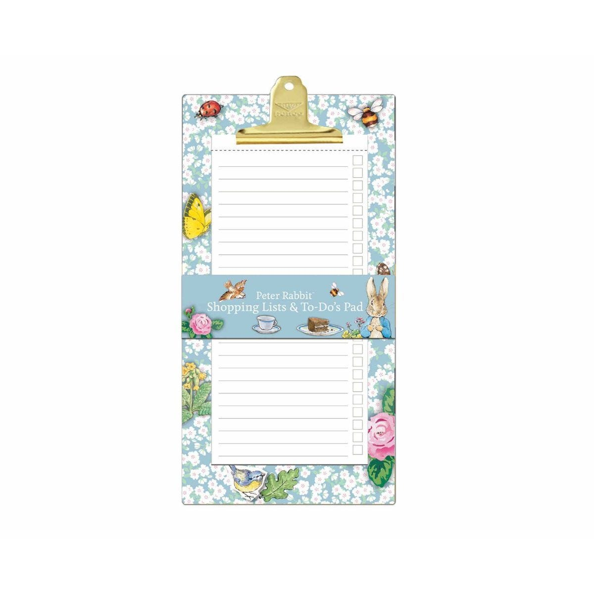 Peter Rabbit Shopping To Do List Clipboard