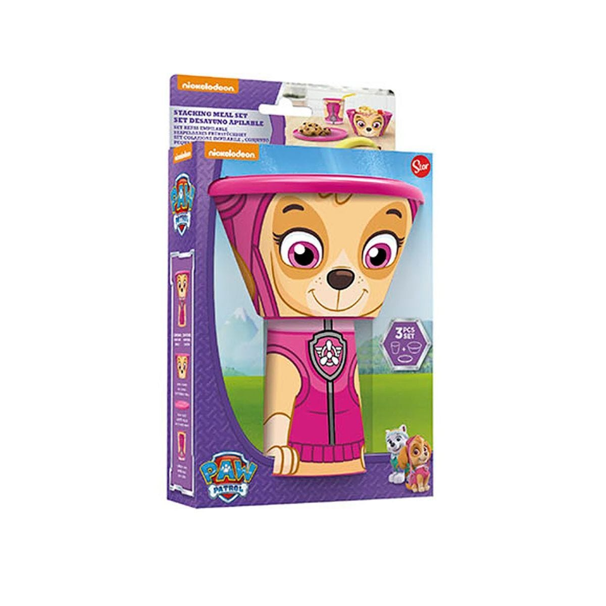 Paw Patrol Stacking Meal Set Pink