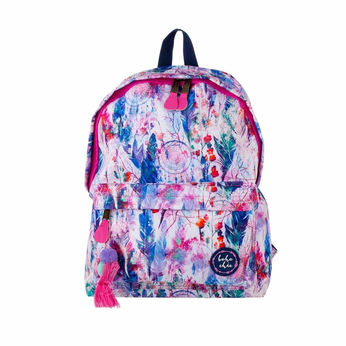 Ambar Boho Chic Backpack with Front Pocket