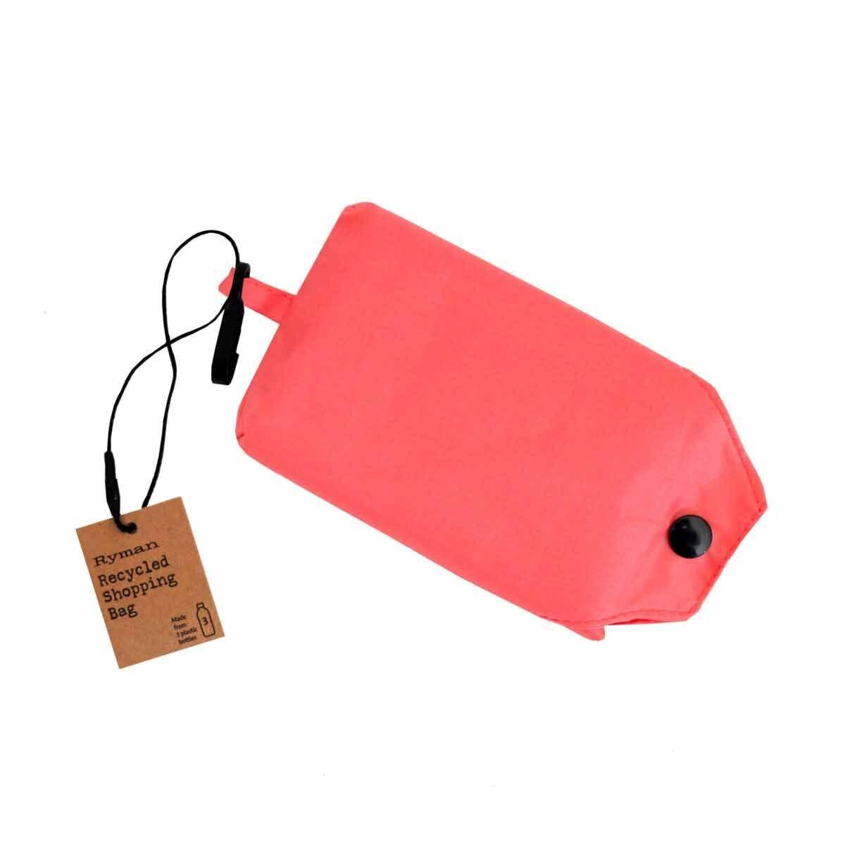 Ryman Reusable Foldaway Recycled Shopping Bag Coral
