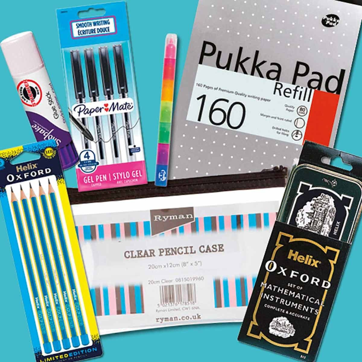 Back to School Stationery Bundle Blue