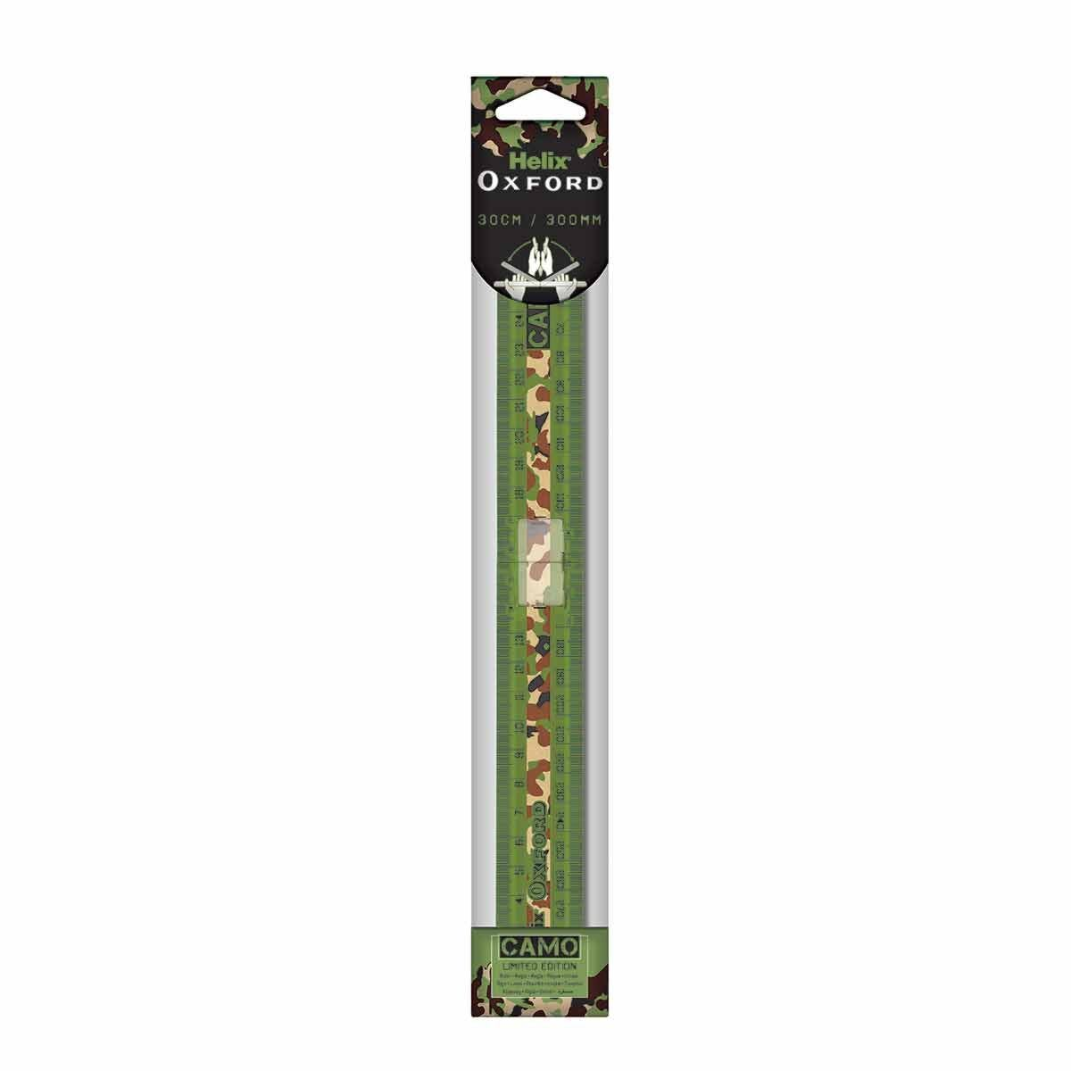 Helix Oxford Camo Folding Ruler Green