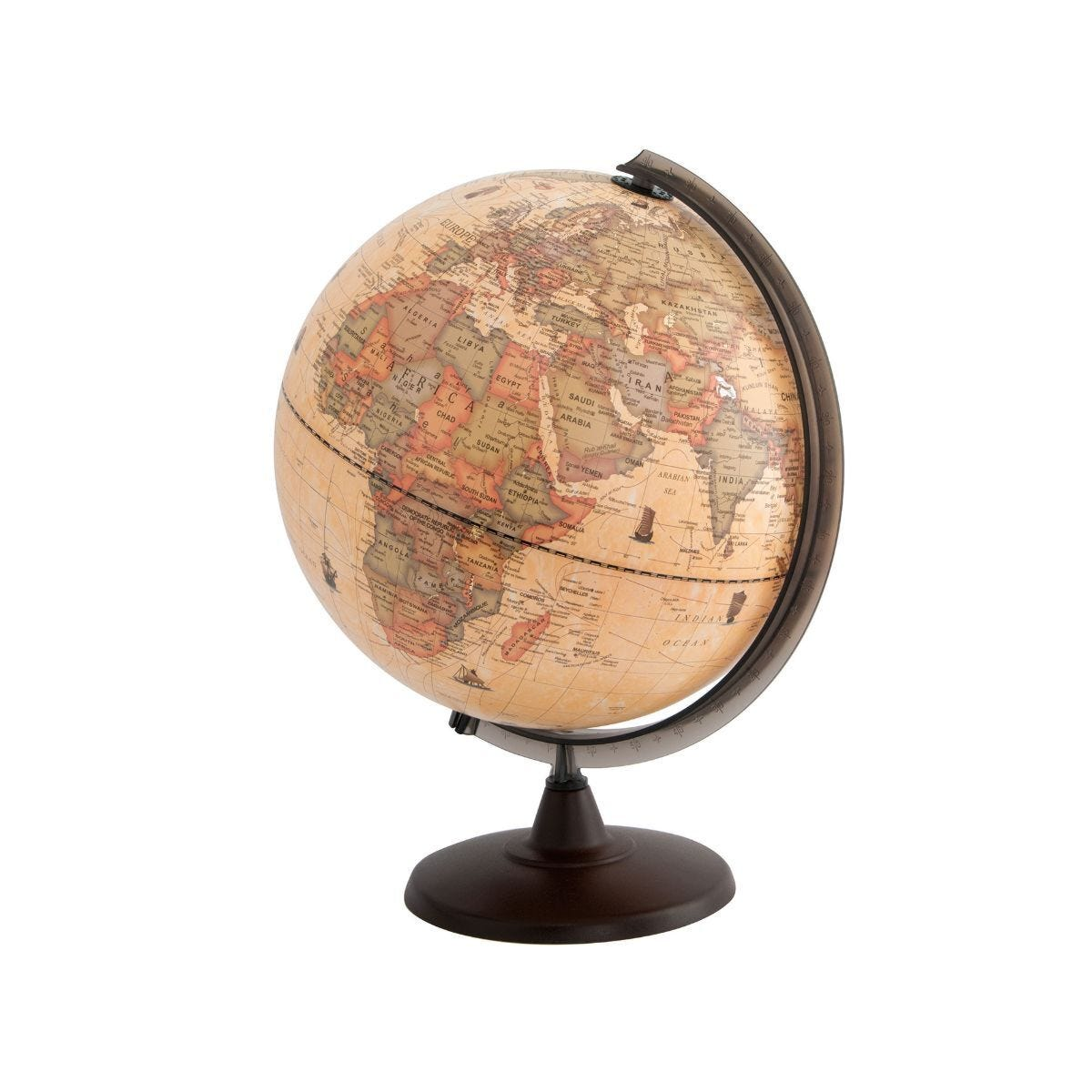 Ryman Illuminated Antique Effect Globe 30cm