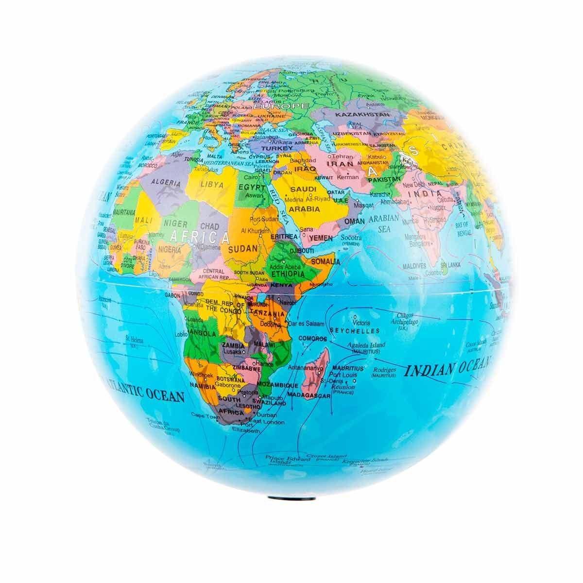 Illuminated Revolving Globe 14cm