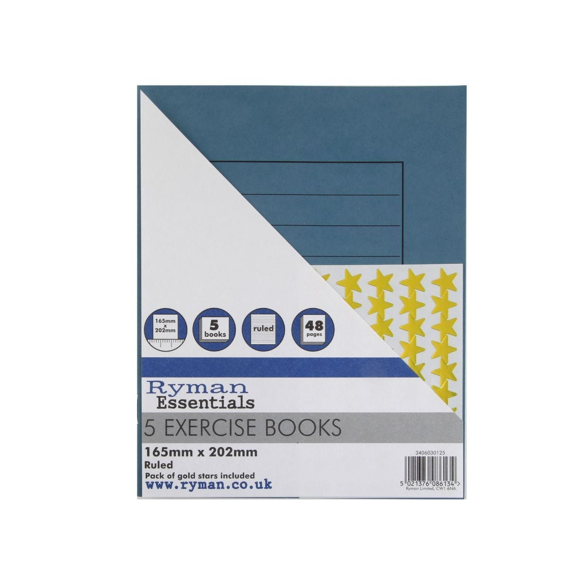 Ryman Exercise Book Ruled Pack of 5 165x202mm