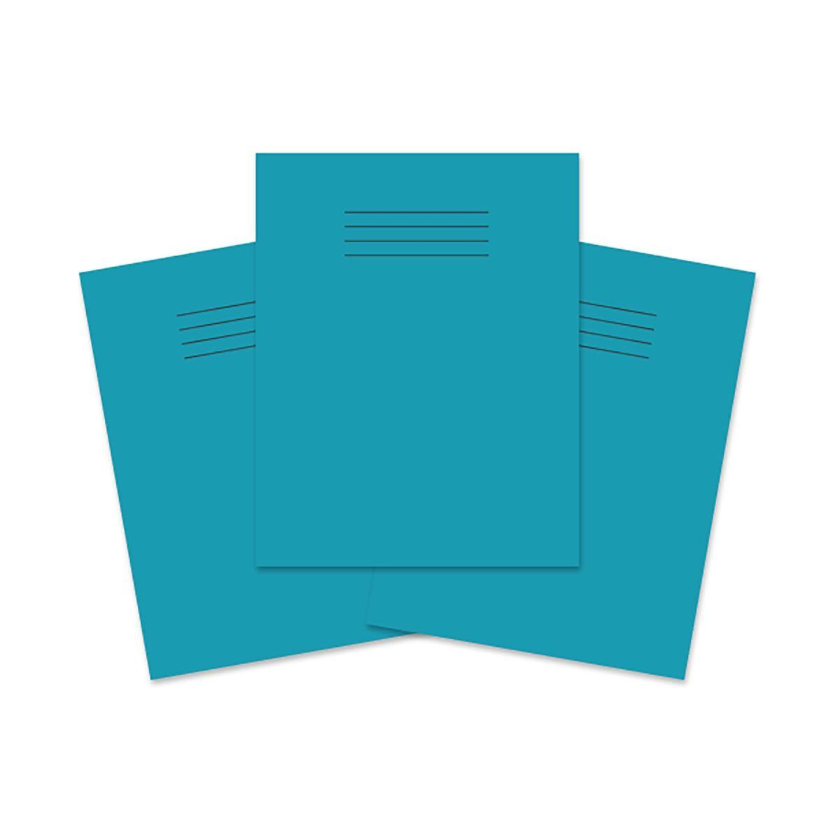 Exercise Book 9 inch x 7 Inch 80 Pages 8mm Ruled and Margin Pack of 100 Light Blue