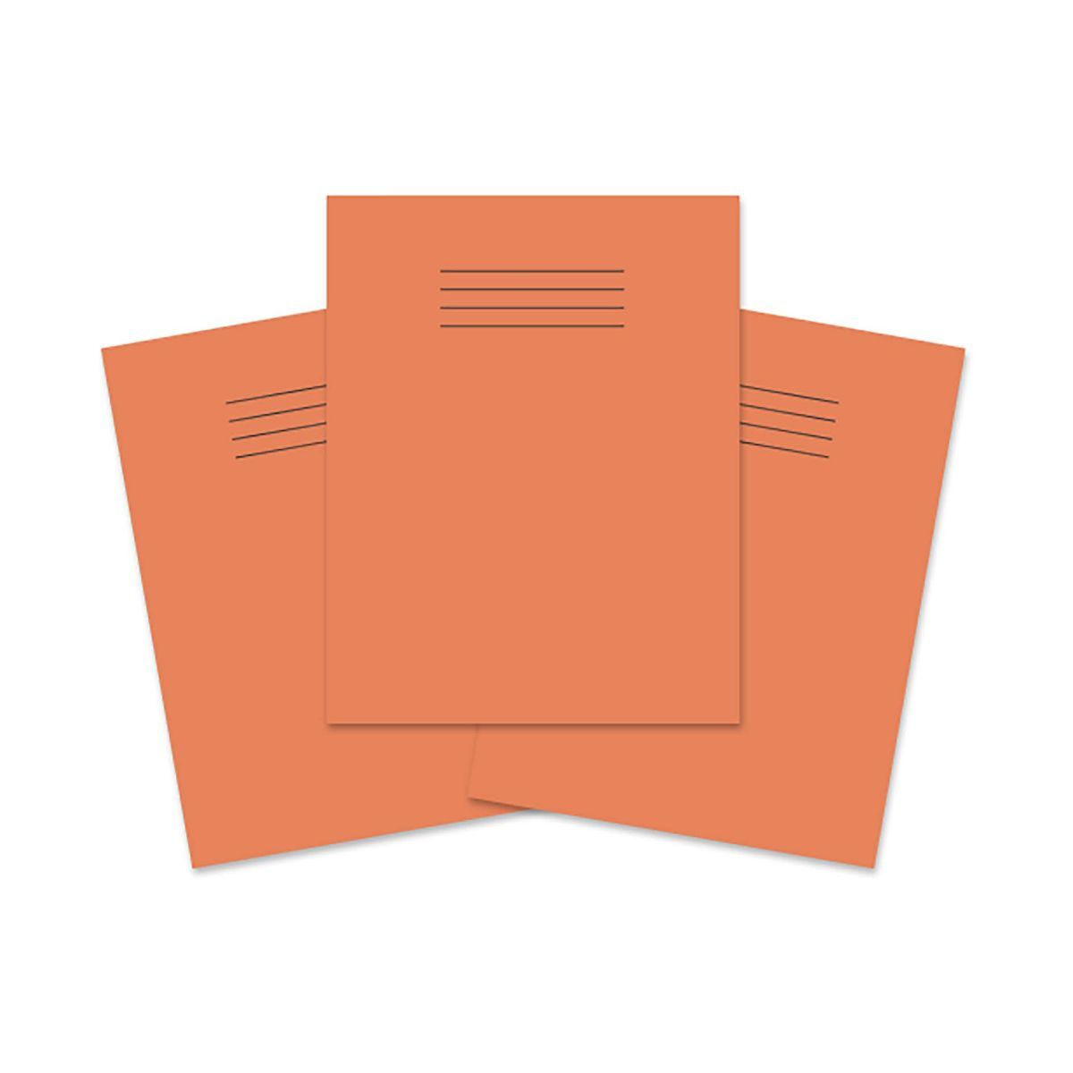 Exercise Book 9 inch x 7 Inch 80 Pages 8mm Ruled and Margin Pack of 100 Orange