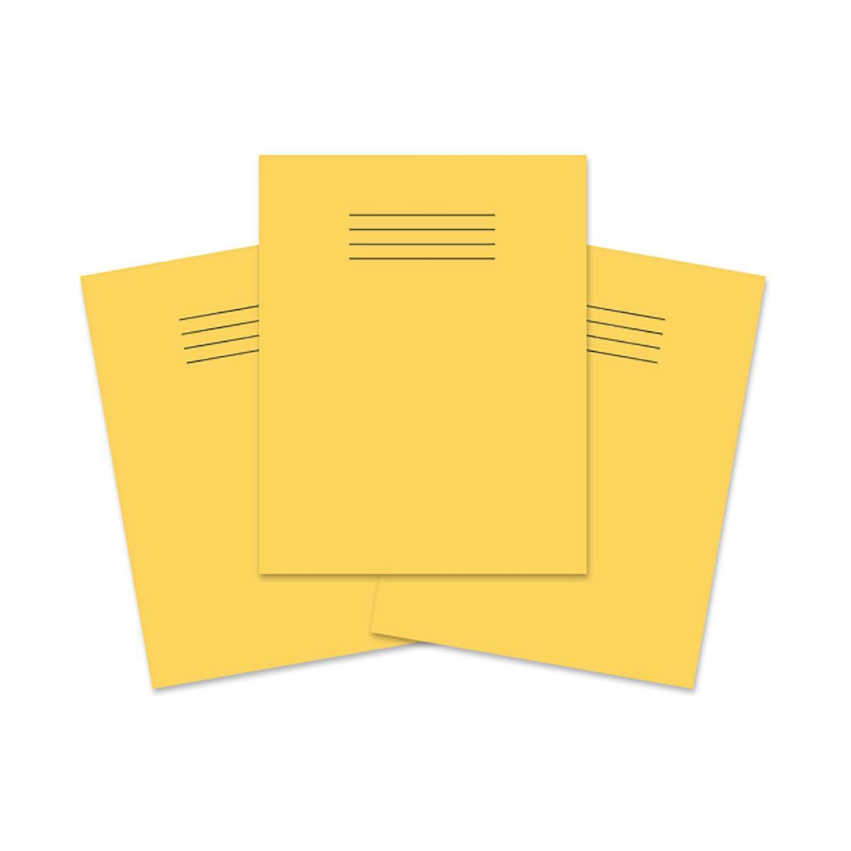 Exercise Book 9 inch x 7 Inch 80 Pages 8mm Ruled and Margin Pack of 100 Yellow
