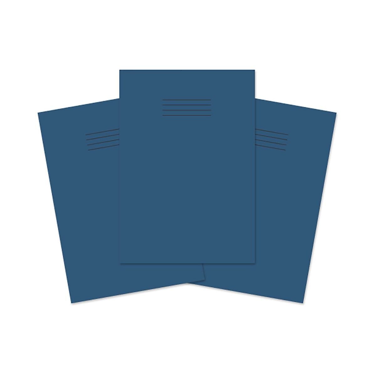 Exercise Book A4 80 page 8mm Ruled and Margin Pack of 50 Dark Blue
