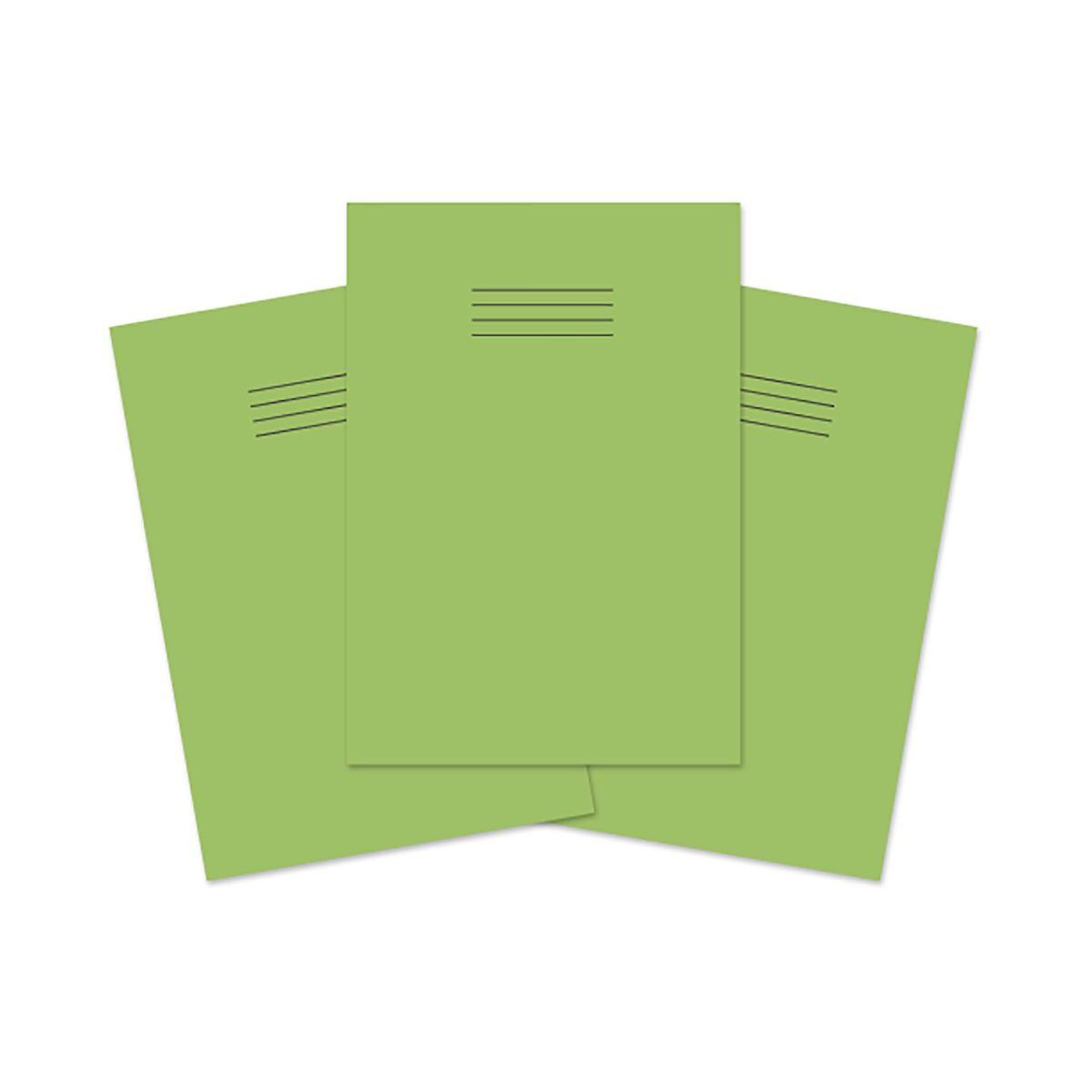 Exercise Book A4 80 page 8mm Ruled and Margin Pack of 50 Light Green