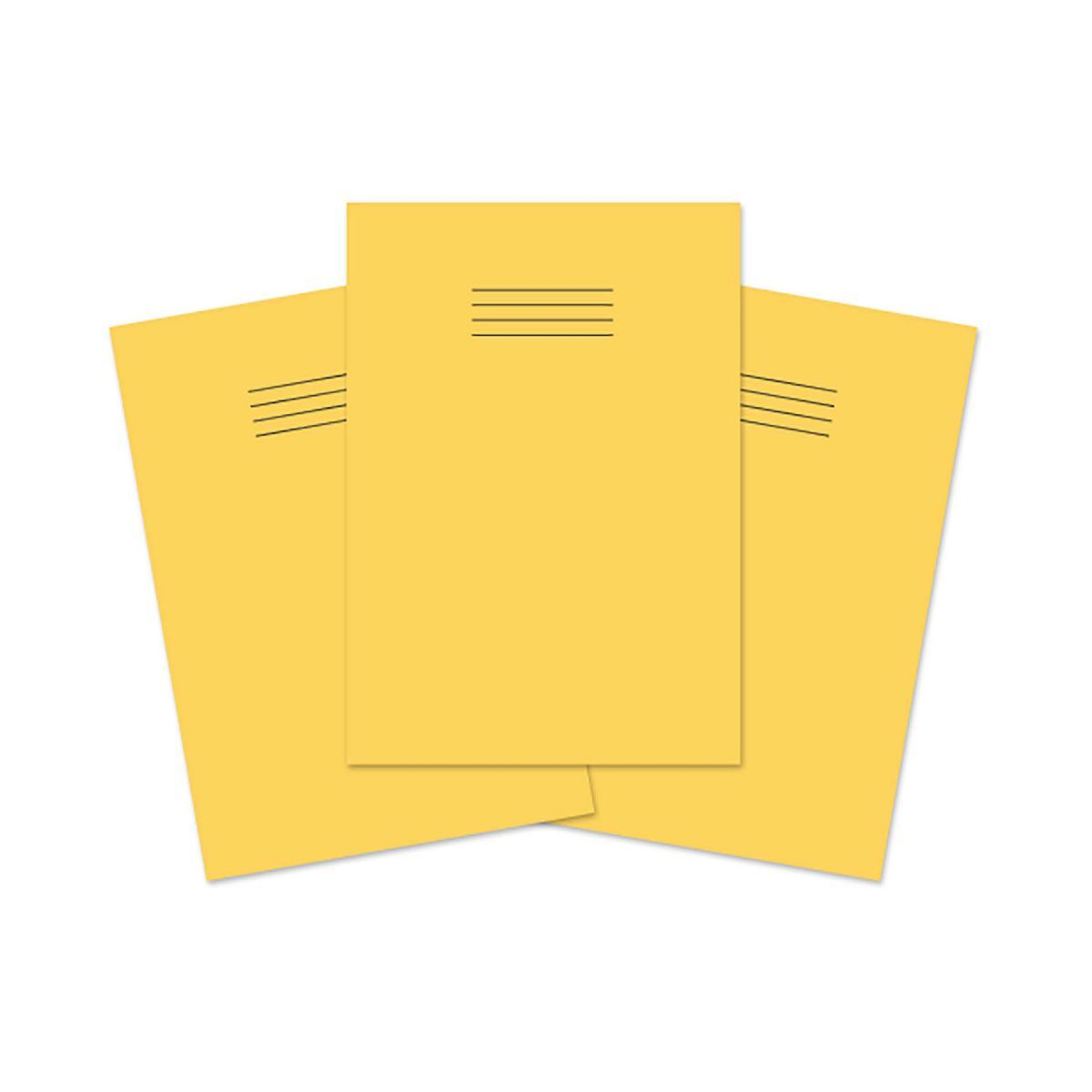 Exercise Book A4 80 page 8mm Ruled and Margin Pack of 50 Yellow