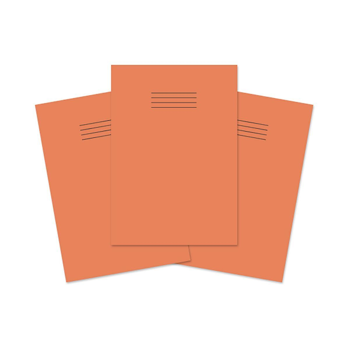 Rhino Exercise Book A4 80 Pages 7mm Squares Pack of 50 Orange