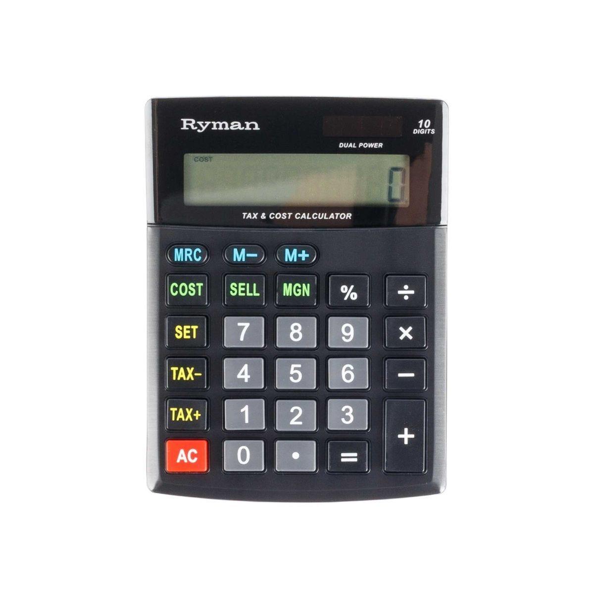 Ryman 10 Digit Calculator DX-10CSMTAX