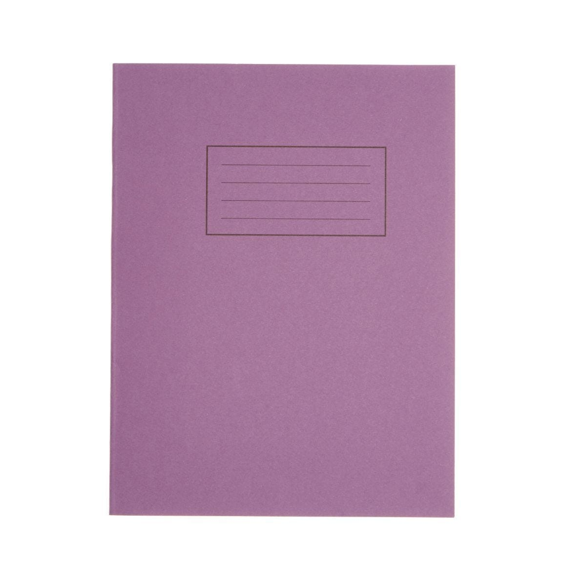 Silvine Exercise Book 9 Inch x 7 Inch 80 Page Ruled 75gsm Purple