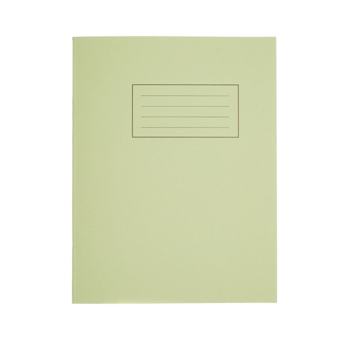 Silvine Exercise Book 9 Inch x 7 Inch 80 Page Ruled 75gsm Green