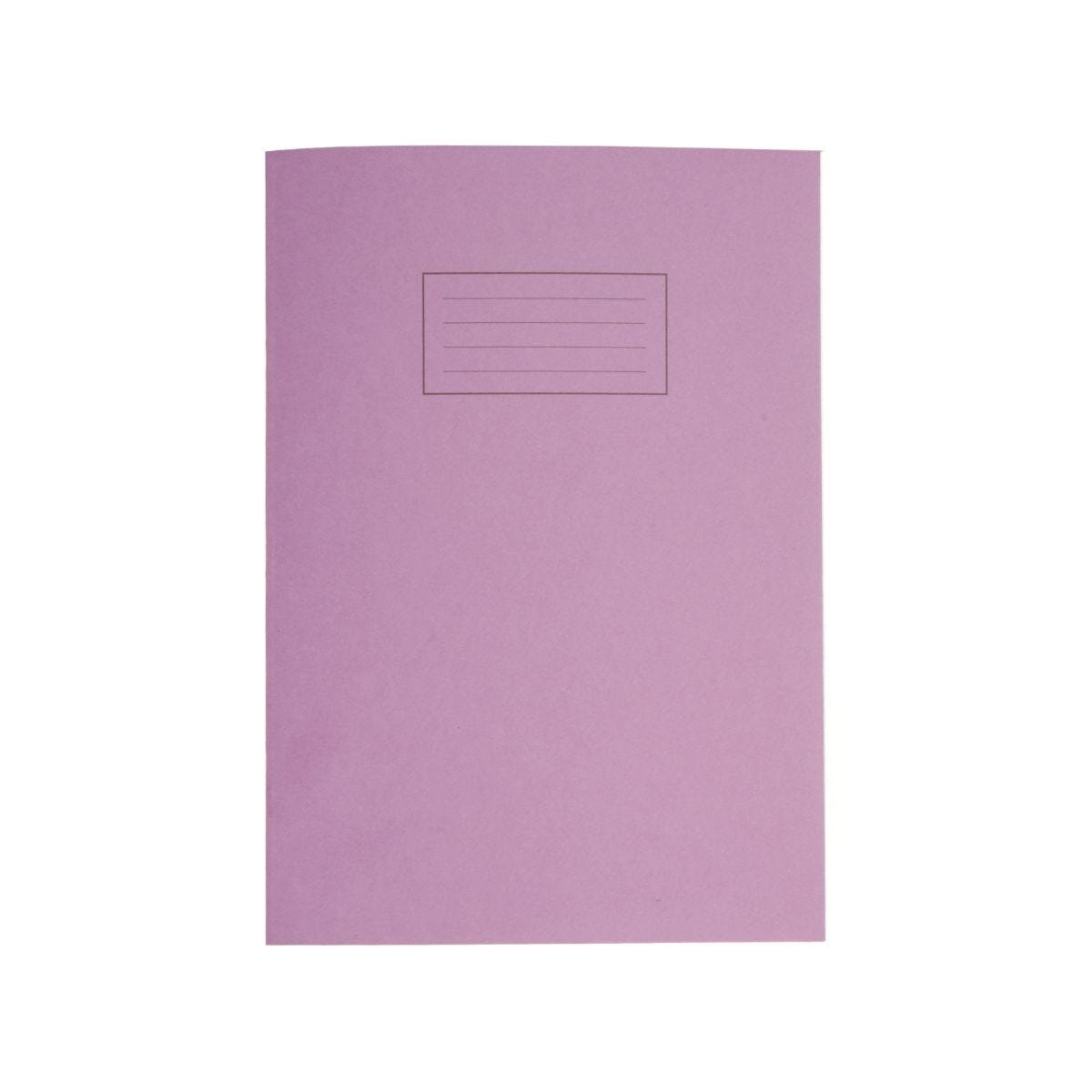 Silvine Exercise Book A4 80pg Ruled 75gsm Purple
