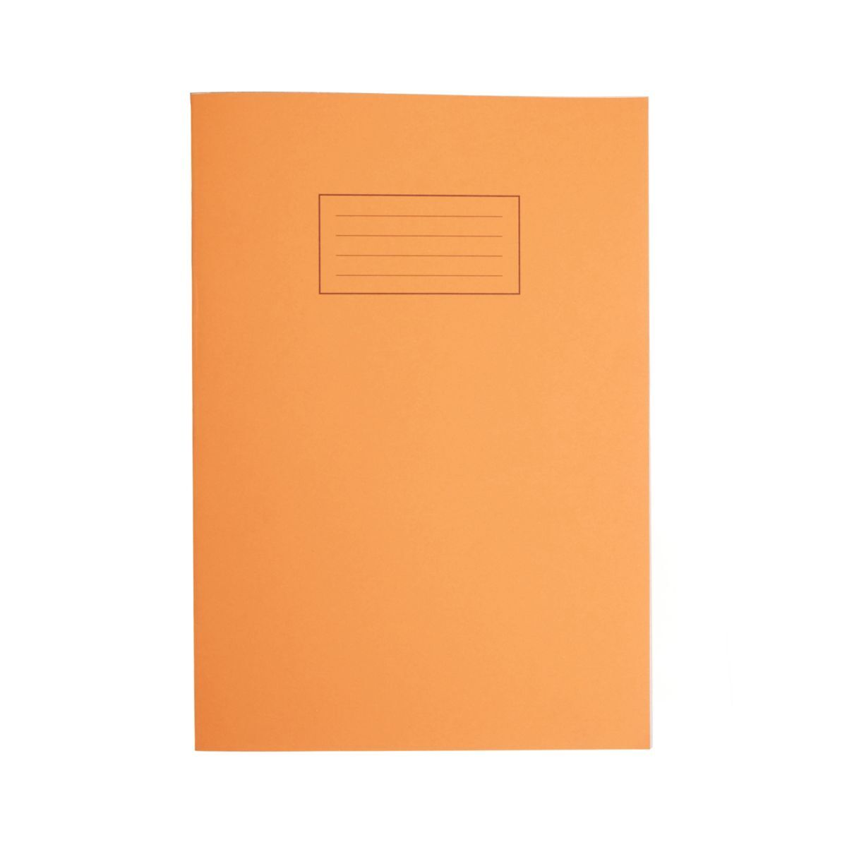 Silvine Exercise Book A4 80pg 5mm Squared 75gsm Orange