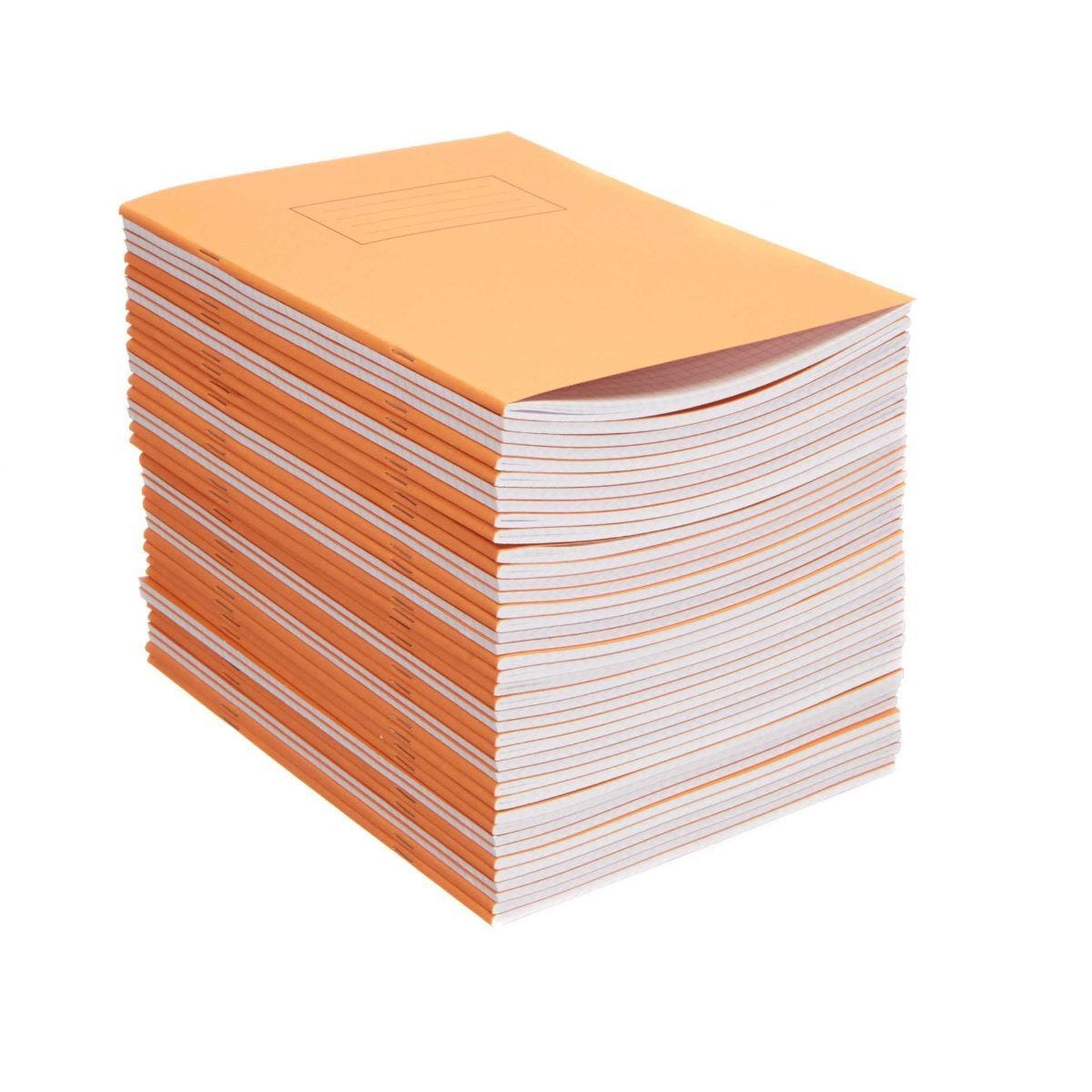 Silvine Exercise Book 9 Inch x 7 Inch Squared 75gsm Pack of 40 Orange