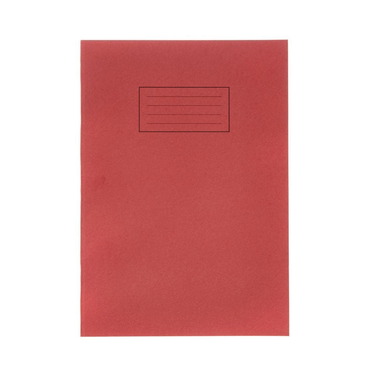 Silvine Exercise Book A4 Ruled 75gsm Pack of 40 Red