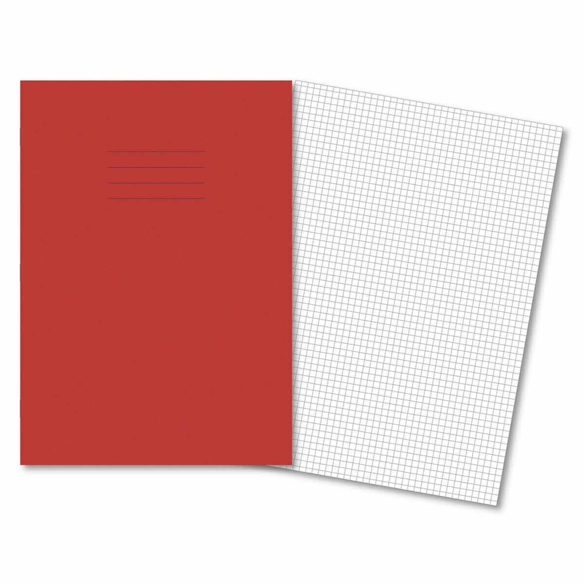 A4 5mm Squared 80pg Red Pk 50