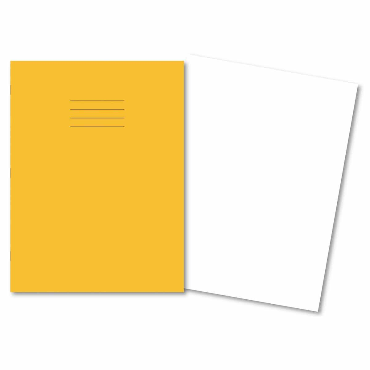 A4+ Exercise Book 80pg Plain yellow p45
