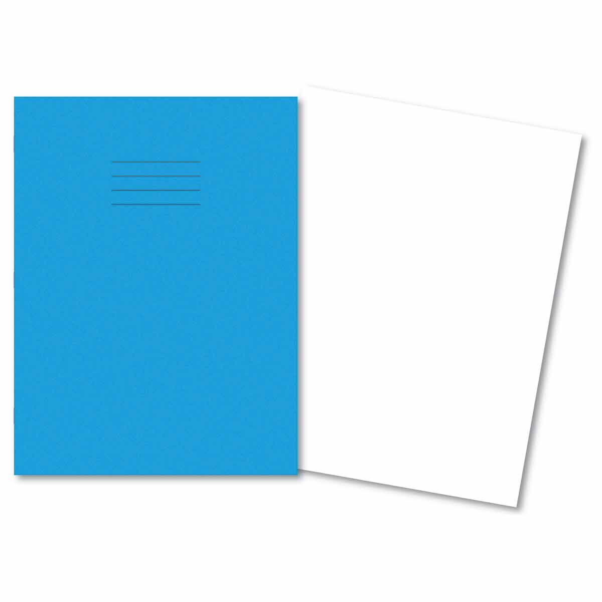 A4+ Exercise Book 80pg Plain Light Blue Pk50