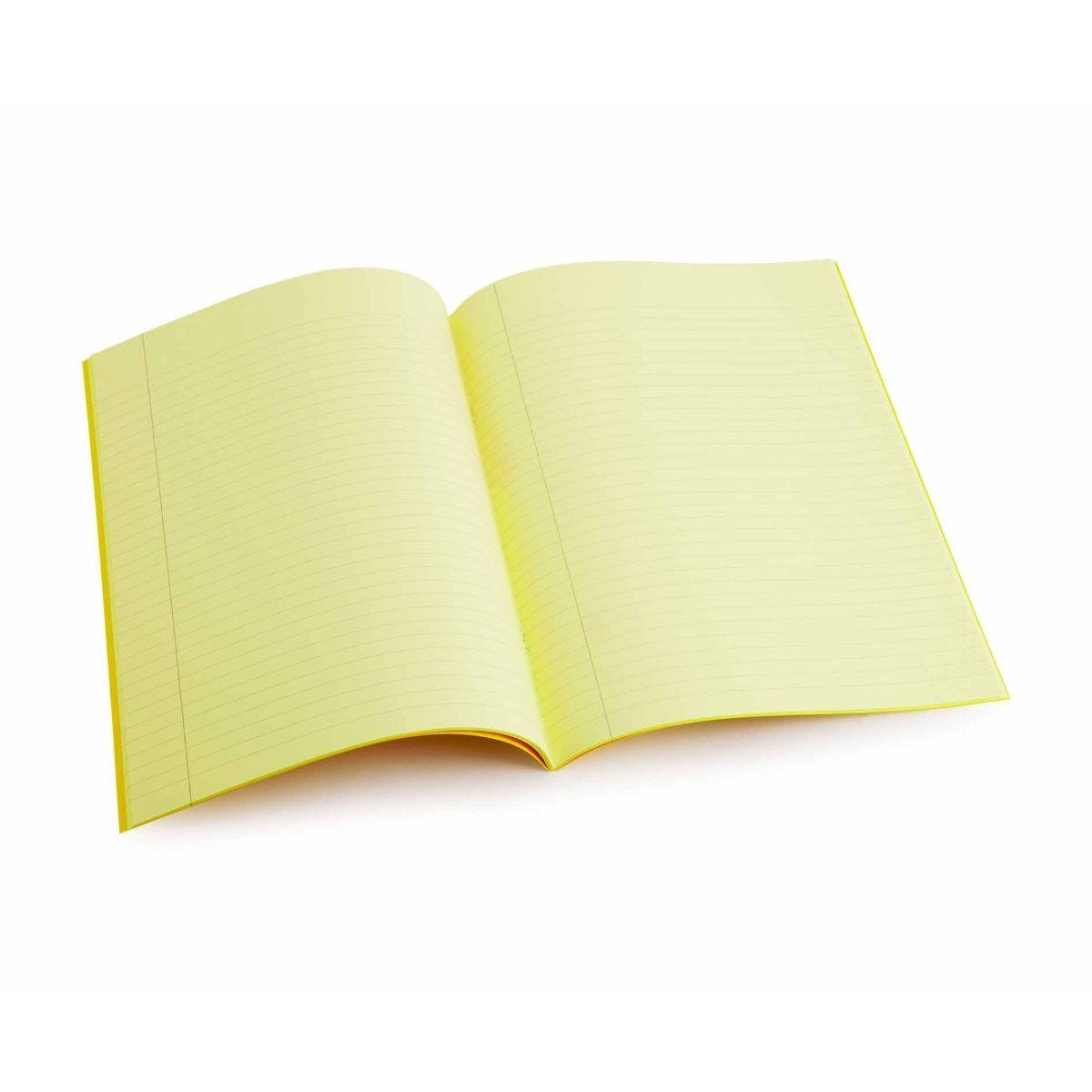 Tinted Exercise Book Lined A4 8mm Yellow