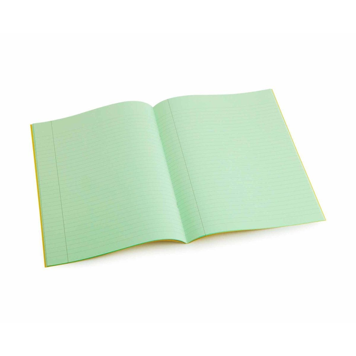Tinted Exercise Book Lined A4 8mm Leaf Green