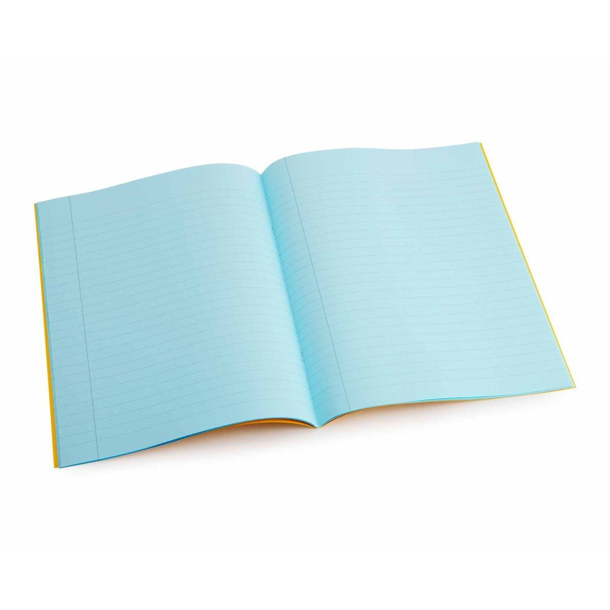 Tinted Exercise Books Lined A4 10mm Aqua