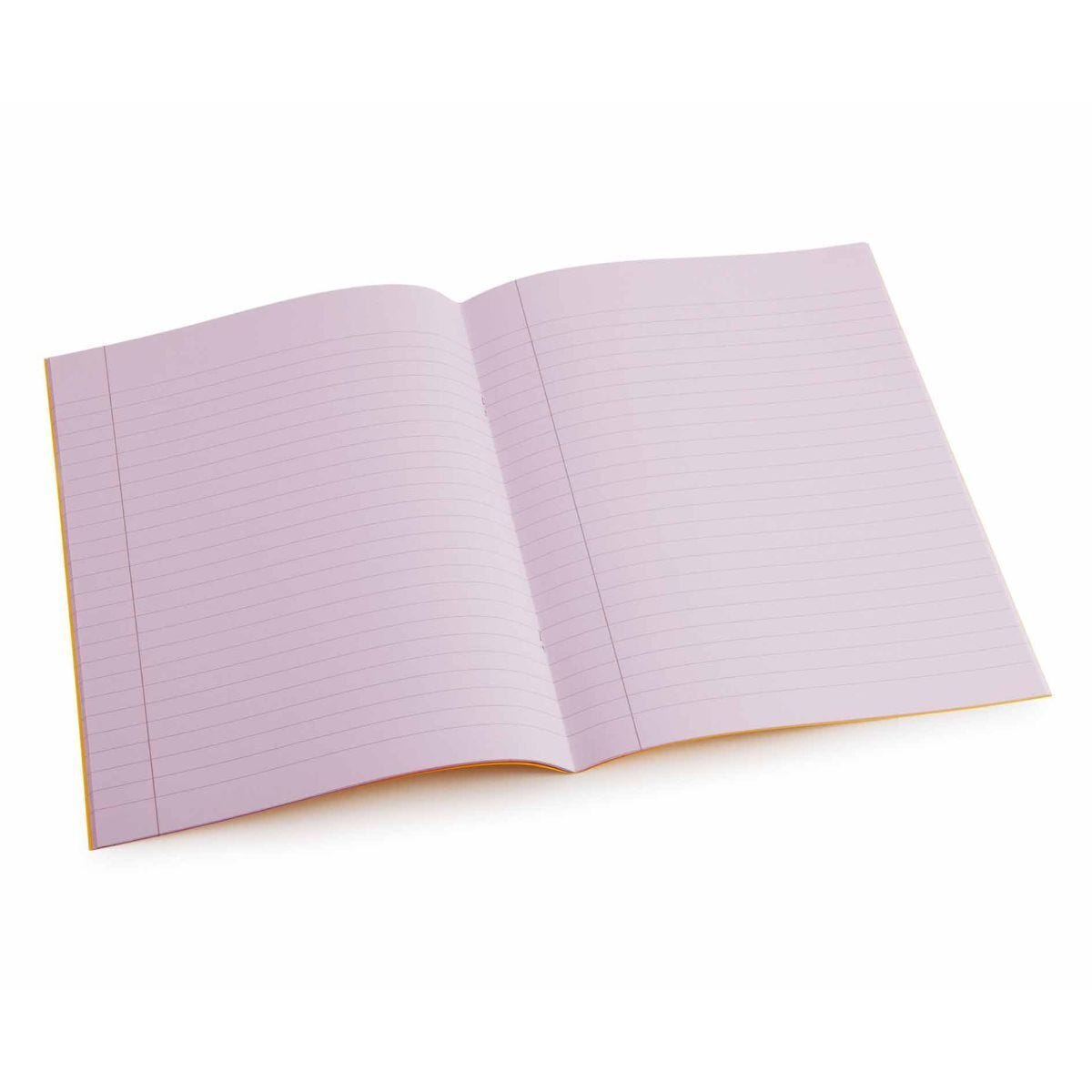 Tinted Exercise Books Lined A4 10mm Purple