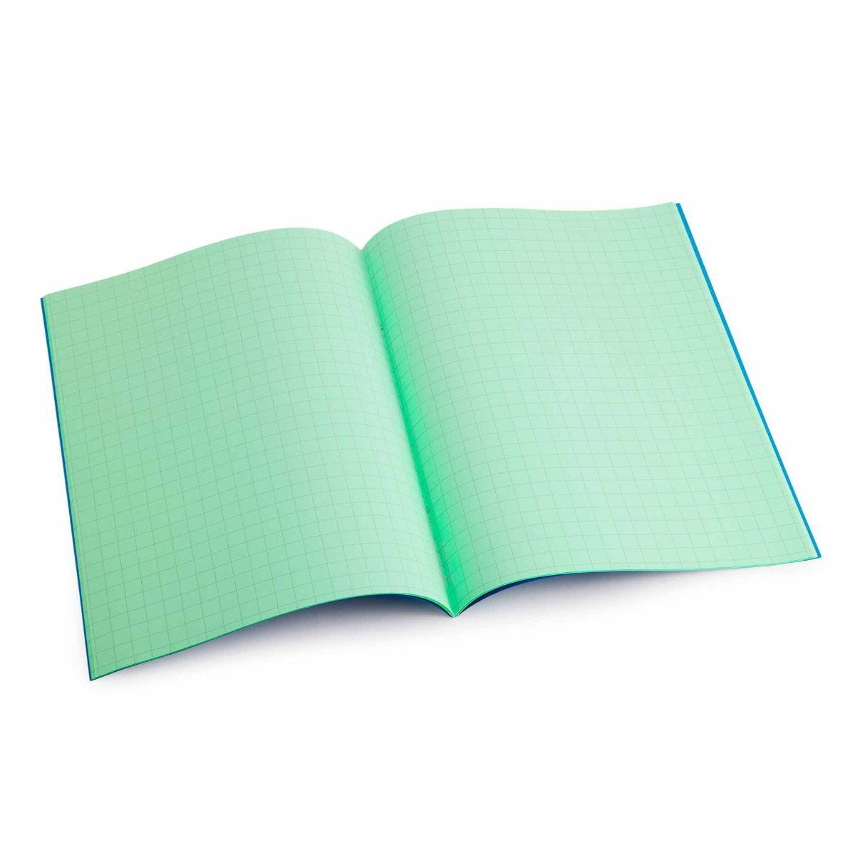 Tinted Exercise Books Squared A4 10mm Apple Green