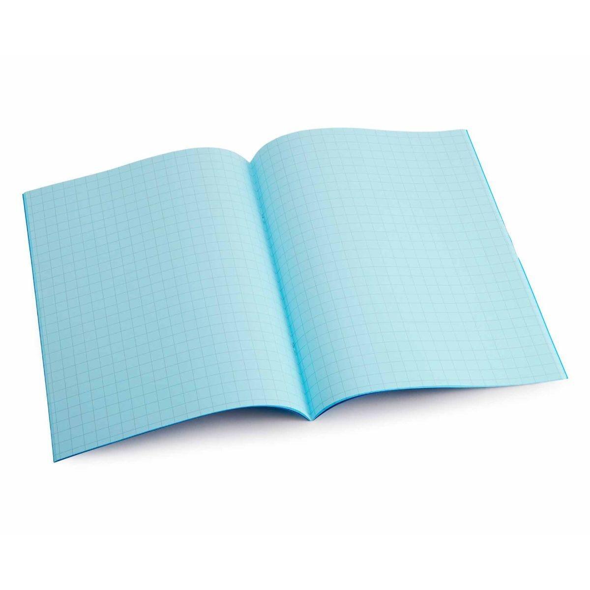 Tinted Exercise Books Squared A4 10mm Aqua