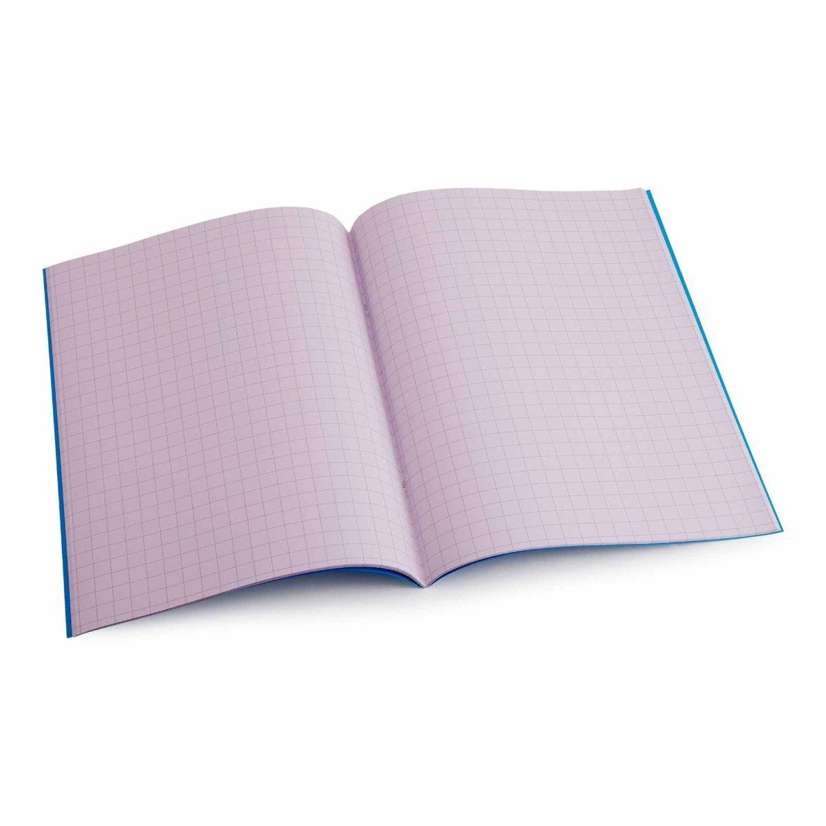 Tinted Exercise Books Squared A4 10mm Purple