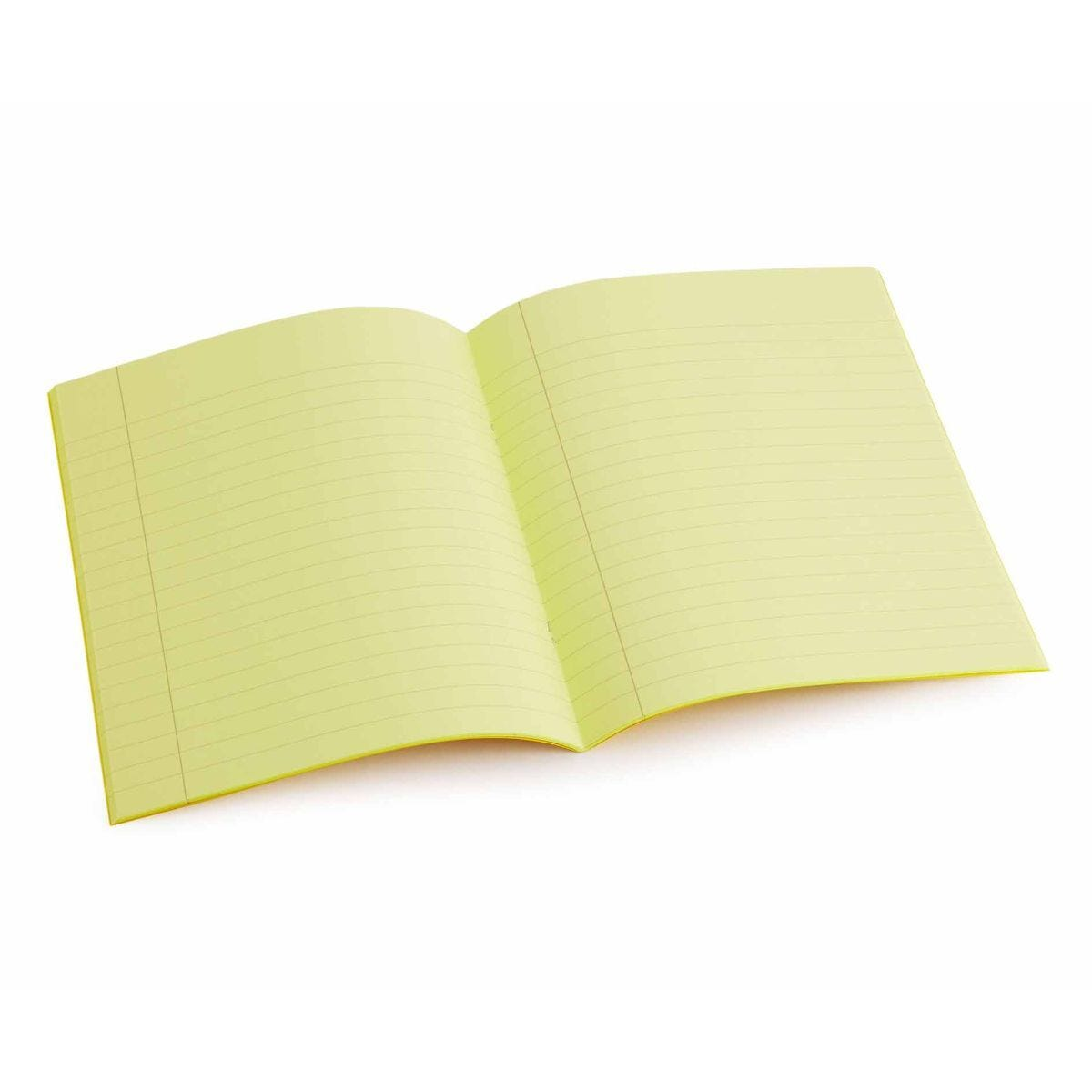 Tinted Exercise Book Standard 7x9 Lined 10mm Yellow