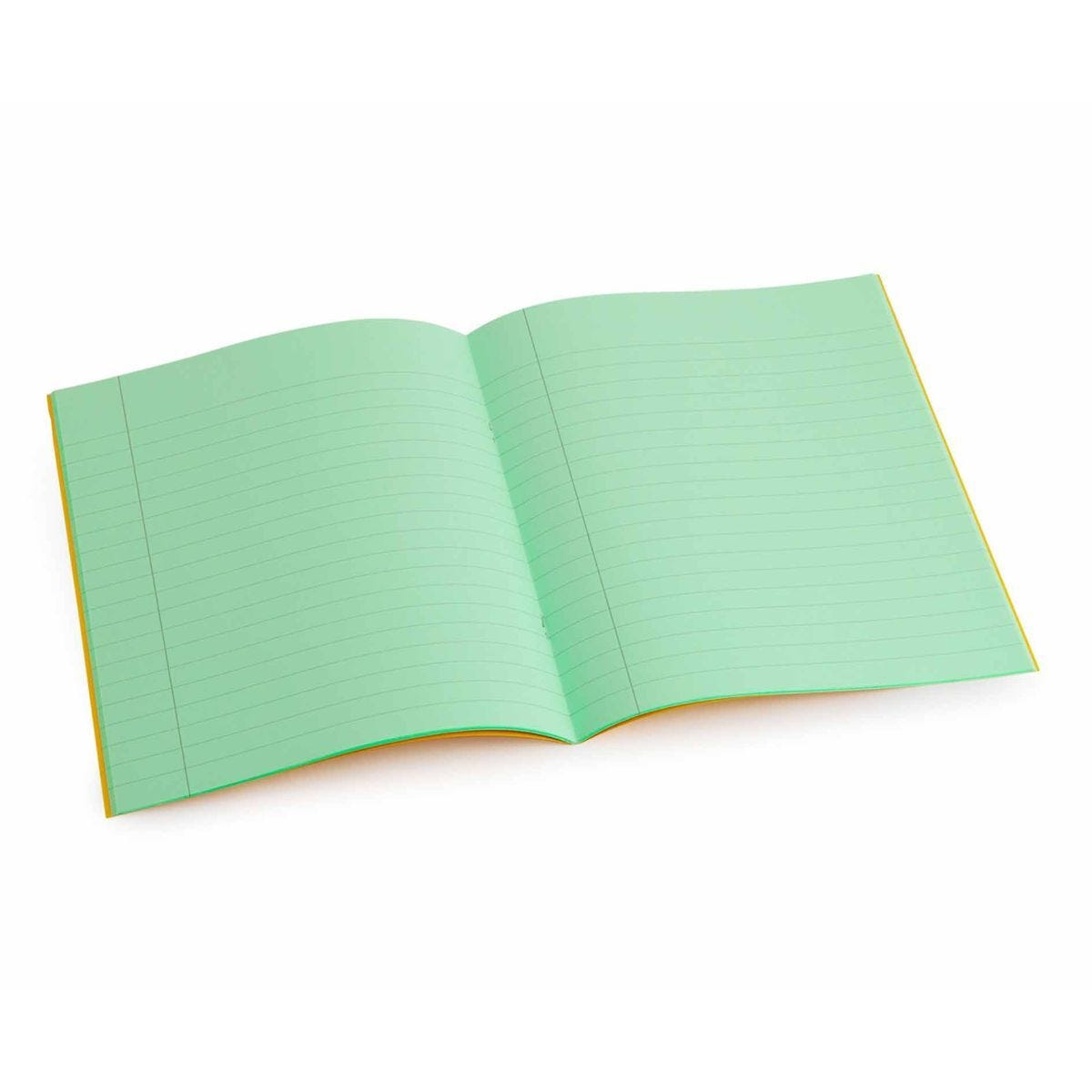 Tinted Exercise Book Standard 7x9 Lined 10mm Apple Green