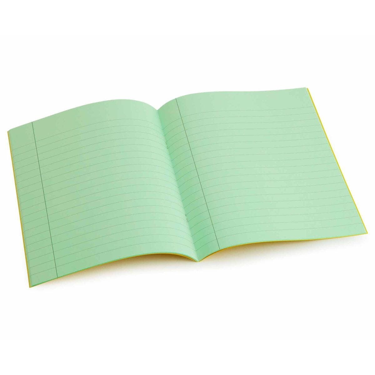 Tinted Exercise Book Standard 7x9 Lined 10mm Leaf Green